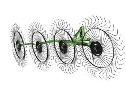 Грабли-ворошилки 1-крылые 5 дисков (зуб 6 мм)